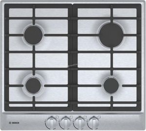 """NGM5456UC Bosch 24"""" 500 Series Gas Cooktop with Continuous Grates and Heavy Duty Metal Knobs - Stainless Steel"""