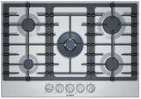 "NGM8057UC Bosch 30"" 800 Series 5 Burner Gas Cooktop with FlameSelect and OptiSim Burner - Stainless Steel"