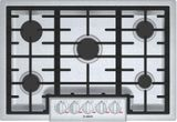 """NGMP056UC Bosch 30"""" Benchmark Series 5 Burner Gas Cooktop with OptiSim Burner and Heavy Duty Knobs - Stainless Steel"""