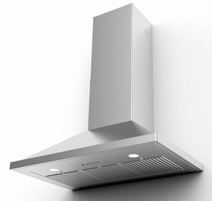 """NOPR36SS600 Faber 36"""" Glassy Wall Range Hood with 600 CFM and VariDuct System - Stainless Steel"""