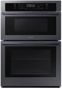 """NQ70R5511DG Samsung 30"""" Microwave Combination Wall Oven with Glass Touch Digital Controls and Easy View Window - Fingerprint Resistant Black Stainless Steel"""