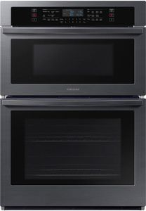 """NQ70T5511DG Samsung 30"""" 1.9/5.1 cu. ft.Microwave Combination Wall Oven with WiFi and Digital Touch Controls - Fingerprint Resistant Black Stainless Steel"""
