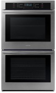 "NV51R5511DS Samsung 30"" Double Wall Oven with Glass Touch Digital Controls and Easy View Window - Stainless Steel"