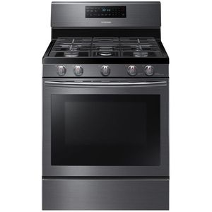 """NX58J5600SG Samsung 30"""" Freestanding 5.8 Cu Ft. Gas Range with Convection & Griddle - Black Stainless Steel"""