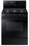 """NX58M5600SB Samsung 33"""" Free Standing Gas Range with Convection and Grate Indicator Marks - Black"""