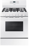 """NX58M5600SW Samsung 33"""" Free Standing Gas Range with Convection and Grate Indicator Marks - White"""
