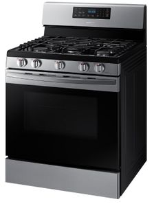 """NX58R4311SS Samsung 30"""" Freestanding 5.8 cu. ft. Capacity Gas Range with Wide View Window and Storage Drawer"""
