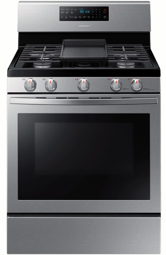 """NX58R5601SS Samsung 30"""" 5.8 cu. ft. Freestanding Gas Range with Self Clean and Fan Convection -  Stainless Steel"""