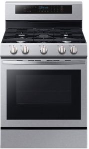 """NX58R6631SS Samsung 30"""" Freestanding 5.8 Cu Ft. Gas Range with True Convection - Stainless Steel"""