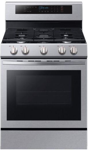 "NX58R6631SS Samsung 30"" Freestanding 5.8 Cu Ft. Gas Range with True Convection - Stainless Steel"