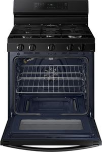 """NX60A6511SB Samsung 30"""" Smart Gas Convection Range with 5 Sealed Burners and No Pre Heat Air Fry - Black"""