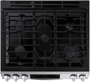 """NX60T8111SS Samsung 30"""" Front Control Wifi Enabled Slide-In Gas Range with Self Clean - Fingerprint Resistant Stainless Steel"""
