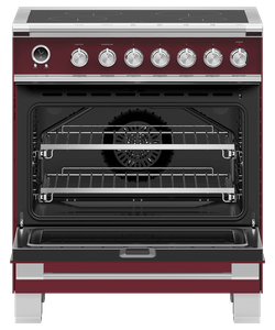"OR30SCI6R1 Fisher & Paykel 30"" Series 9 Classic 4 Zone Induction Range with Convection Oven and Self Clean - Red"