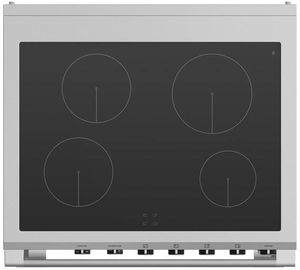 "OR30SCI6W1 Fisher & Paykel 30"" Series 9 Classic 4 Zone Induction Range with Convection Oven and Self Clean - White"