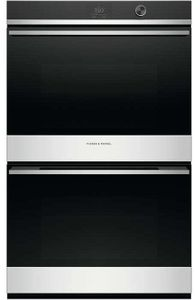 """OB30DDPTDX1 Fisher & Paykel 30"""" Series 9 Contemporary Built-in Double Oven with 17 Functions and Dial - Stainless Steel"""