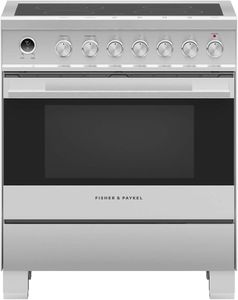 """OR30SDE6X1 Fisher & Paykel 30"""" Contemporary Style Electric Range with Ceramic Cooktop and Convection Oven - Stainless Steel"""