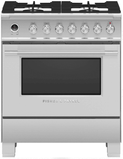"OR30SDG6X1 Fisher & Paykel 30"" Contemporary Style Dual Fuel Range with Self-Clean Oven and Aerotech System - Stainless Steel"