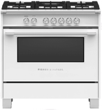 "OR36SCG6W1 Fisher & Paykel 36"" Freestanding Dual Fuel Rang with AeroTech Technology and Self-Clean - White"