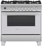 "OR36SCG6X1 Fisher & Paykel 36"" Freestanding Dual Fuel Rang with AeroTech Technology and Self-Clean - Stainless Steel"