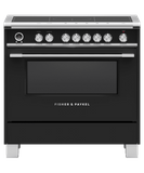 "OR36SCI6B1 Fisher & Paykel 36"" Series 9 Classic 5 Zone Induction Range with Convection Oven and Self Clean - Black"