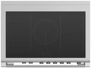 "OR36SCI6W1 Fisher & Paykel 36"" Series 9 Classic 5 Zone Induction Range with Convection Oven and Self Clean - White"