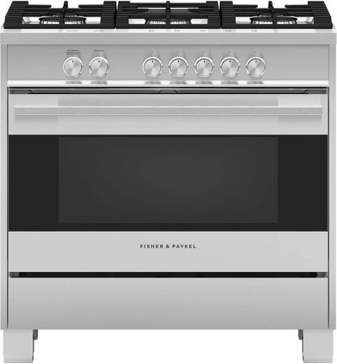 "OR36SDG4X1 Fisher & Paykel 36"" Contemporary Style Gas Range with Multi Shelf Cooking and Easy Cleaning - Stainless Steel"