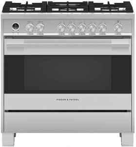 """OR36SDG6X1 Fisher & Paykel 36"""" Contemporary Style Freestanding Dual Fuel Range with Aerotech Technology and Soft Close Door - Stainless Steel"""