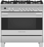 "OR36SDG6X1 Fisher & Paykel 36"" Contemporary Style Freestanding Dual Fuel Range with Aerotech Technology and Soft Close Door - Stainless Steel"