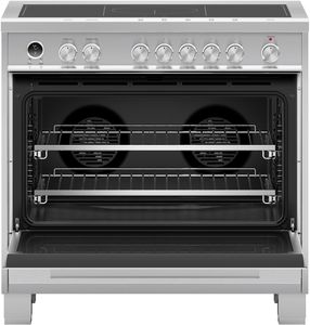 """OR36SDI6X1 Fisher & Paykel 36"""" Contemporary Style Induction Range with 5 Cooking Zones and Nine Oven Functions - Stainless Steel"""