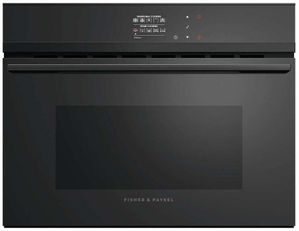 "OS24NDBB1 Fisher & Paykel 24"" Series 9 Minimal Built-in Combination Steam Oven - Black"