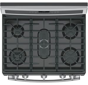 "P2B940SEJSS GE Profile Series 30"" Dual-Fuel Free-Standing Convection Range with Warming Drawer - Stainless Steel"