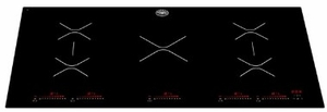 P365IAE Bertazzoni 36'' Professional Series 5 Zone Induction Cooktop with 6th Generation Induction Technology and Ceramic Glass Surface - Black