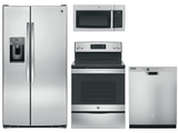 Package 10 - GE Appliance Package - 4 Piece Appliance Package with Electric Range - Stainless Steel