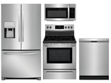 Package 11 - Frigidaire Appliance Package - 4 Piece Appliance Package with Electric Range - Stainless Steel