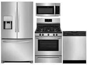 Package 12 - Frigidaire Appliance Package - 4 Piece Appliance Package with Gas Range - Stainless Steel