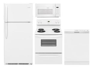 Package 17 - Frigidaire Appliance Package - 4 Piece Appliance Package with Electric Range - White