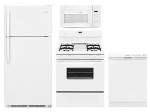 Package 18 - Frigidaire Appliance Package - 4 Piece Appliance Package with Gas Range - White