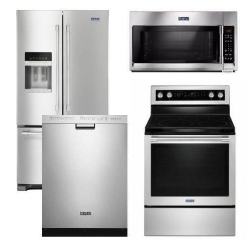 Package 28 - Maytag Appliance Package - 4 Piece Appliance Package with Electric Range - Stainless Steel