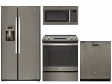 Package 38 - GE Appliance - 4 Piece Appliance Package with Electric Range - Slate