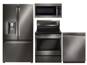 Package LGBD1 - LG Appliance Package - 4 Piece Appliance Package with Electric Range - Black Stainless Steel