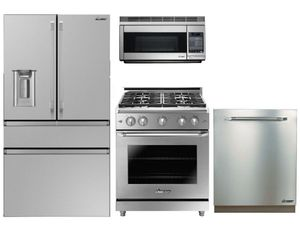 "Package D1 - Dacor Appliance - Dacor 4 Piece Kitchen Package with 30"" Gas Range - Stainless Steel"