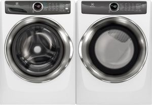 Package ELE527IWG - Electrolux Washer and Dryer Package - Front Load Washer and Gas Dryer - White