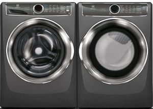 Package ELE627TTE - Electrolux Washer and Dryer Package - Front Load Washer and Electric Dryer - Titanium