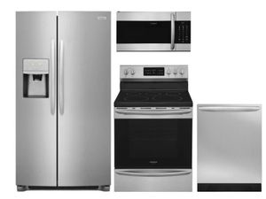 Package FG1 - Frigidaire Appliance Gallery Package - 4 Piece Appliance Package with Electric Range - Stainless Steel