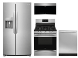 Package FG2 - Frigidaire Appliance Gallery Package - 4 Piece Appliance Package with Gas Range - Stainless Steel