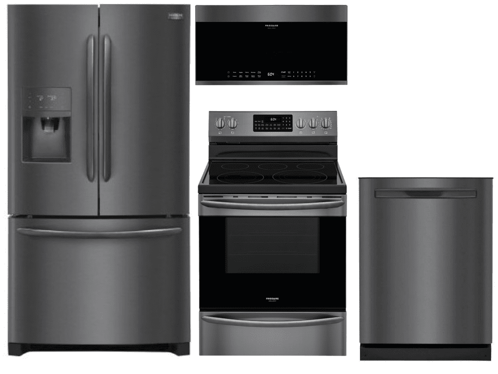 Package Fgbs1 Frigidaire Appliance Package 4 Piece Appliance Package With Electric Range Black Stainless Steel