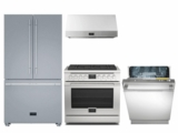 Package FUL36 - Fulgor Milano 4 Piece Appliance Package with Gas Range - Stainless Steel