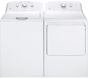 Package GE33WG - GE Appliance Laundry Package - Top Load Washer with Gas Dryer - White