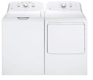 Package GE 33WG - GE Appliance Laundry Package - Top Load Washer with Gas Dryer - White