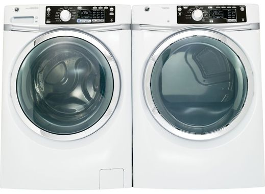 Package GE45WE - GE Appliance Laundry Package - Front Load Washer with Electric Dryer - White